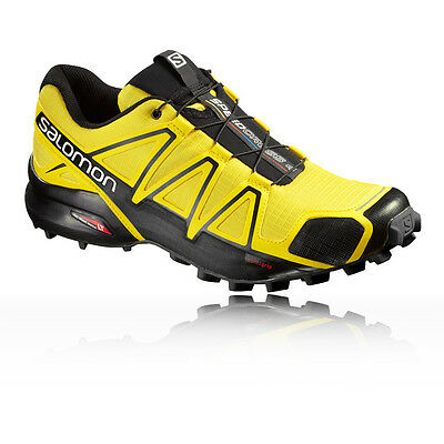 Salomon Speedcross 4 Hommes Jaune Noir Running Chaussures Sneakers Baskets