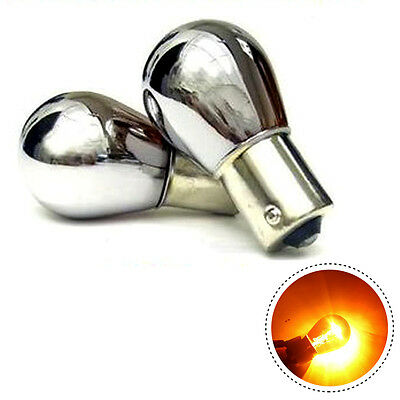 Xtec 581 PY21w Chrome Silver Amber Indicator Bulbs (Twin Blister Pack)