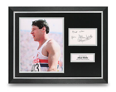 Allan Wells Signed Photo Framed 16x12 Olympics Autograph Memorabilia Display