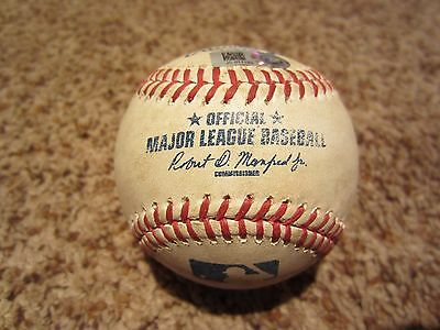 Jacoby Ellsbury Game Used Yankees Baseball 7/26/2016 DOUBLE Hit #1227 MLB Auth
