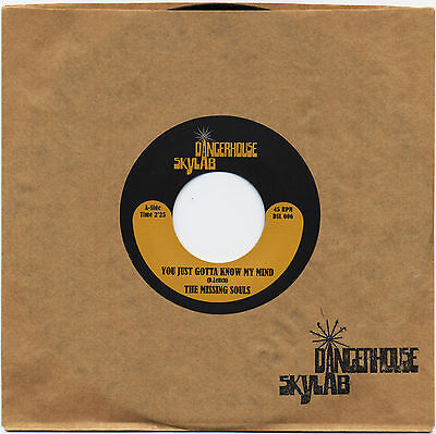 """THE MISSING SOULS You Just Gotta Know My Mind vinyl 7"""" garage Donovan Bruthers"""
