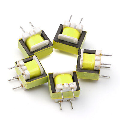 10Pcs Audio 1300 : 8 Ohm Transformer EE14 Transformateur POS Machine-transformer