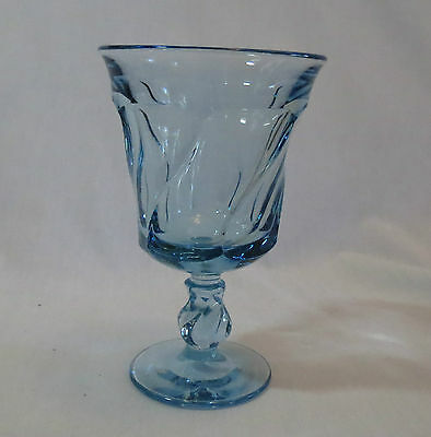 Fostoria Jamestown Light Blue Water Goblet/Footed Tumbler(s)