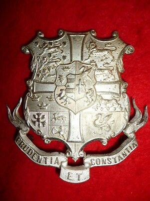 Officer's Silver Plated Helmet Plate of the Cambridge University Rifles
