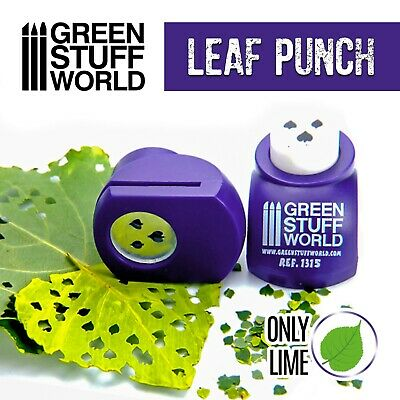 Miniature Leaf Punch - DARK PURPLE - Tool to make Lime LEAVES Leaf Maker punches