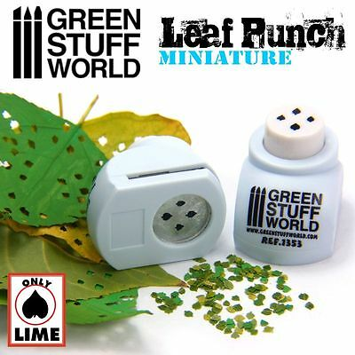Miniature Leaf Punch - LIGHT BLUE - Tool to make Lime LEAVES - dioramas scenery