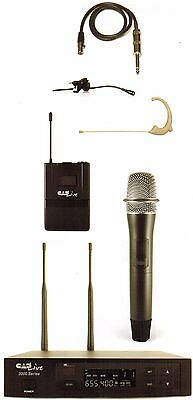 CADLive WX3010 Wireless  Microphone System with Earworn, E29 Lav & WXGTR Cable