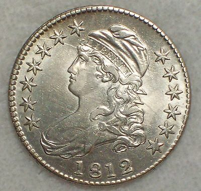 1812 BUST Half Dollar *SILVER* O-105 Variety AU Detailing RARE Authentic US Coin