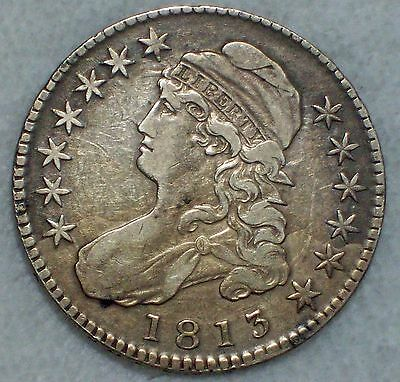 1813 BUST Half Dollar *SILVER* O-105 Variety VF+/XF Detailing RARE Authentic 50C