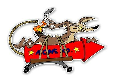 Wile E Coyote ACME Rocket  Decal / Sticker Die cut