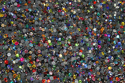 500 x GROS Strass Thermocollants 5 mm Hotfix Perle à repasser 40 couleurs