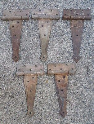 Lot of 5 antique Strap Hinges Barn Hinge Architectural Salvage hinge arm 9-1/2''