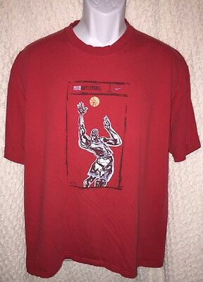 a92a09ecc 90S RED NIKE Basketball T-Shirt Size Adult Large - $9.95 | PicClick