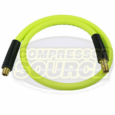 """New Flexzilla 1/2"""" x 4' FT Air Hose Whip With 3/8' MNPT Swivel HFZ1204YW3S"""