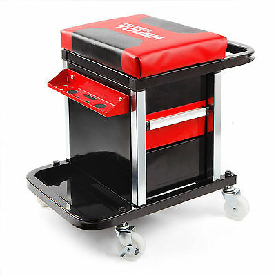 Mechanic Rolling Creeper Stool  Seat Tool Chest Chair Garage Rack Storage NEW