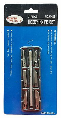Power Craft 7-Piece Hobby Exacto Knife Set