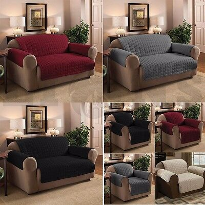 Quilted Furniture Sofa Protector Throw Water Repellent Cover Protector's Sizes
