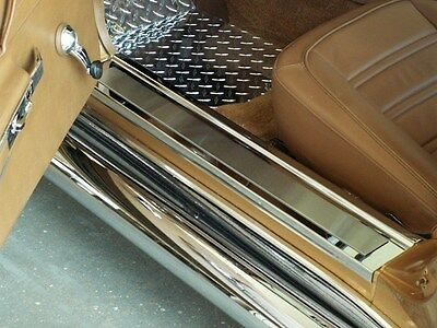 ACC C3 Corvette - Doorsills Polished w/Brushed Inserts Deluxe 2Pc-011002