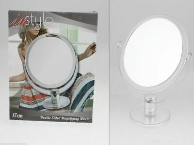 12 x Mirrors Doubles Sided Magnifying 17cm Plastic Frame Cosmetic Wholesale Lot
