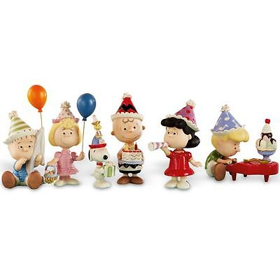 Lenox Peanuts 6pc Birthday Party Figurine Set Charlie Brown Snoopy NEW MSRP $250
