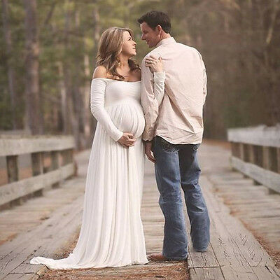Women Maternity Gown For Photography photo shoot Fancy Chiffon Maternity Dresses