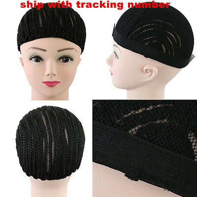 Cornrow Wig Cap Sew in Braiding Wigs Cap Adjustable Strap For Making Wigs