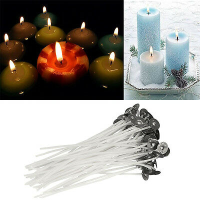 Candle Wicks Pre Waxed Sustainers 117mm Cotton DIY Soy Wax Making Tools 50pcs