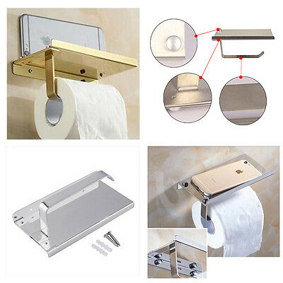 Toilet Paper Holder Square Roll stainless Bathroom Tissue Holder Wall Mount New