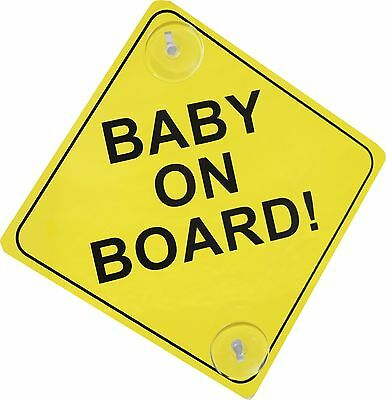 Baby On Board Sign Child Vehicle Window Safety Sticker Bright Baby Kids Car Sign