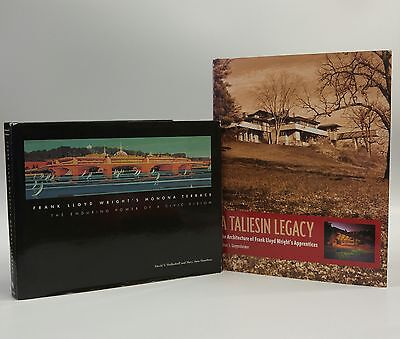Lot of 2: Frank Lloyd Wright-Architecture- Hardcovers with DJs