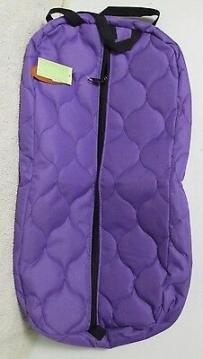 Showman New Zippered Purple Heavy Denier Quilted Bridle Bag Show Halter Bag