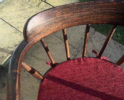 Windsor Style Half Back Oak Chair