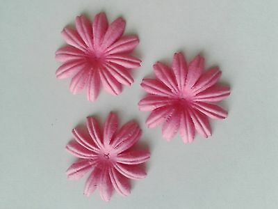 25 LARGE MULBERRY FLOWER HEADS - 4cm - CERISE PINK