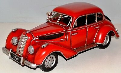 Car Oldtimer um 1939 Tin Car Vintage Metal Model Tin Model Car 32 cm 37700