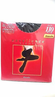 Kanebo  excellence TIGHTS pure Black 110D Heat&Fit size L~LL made in Japan