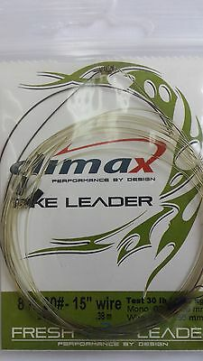 """CLIMAX FLY FISHING LEADER 8ft 30#-15"""" 30lb  PIKE, MUSKY  FREE SHIPPING worldwide"""