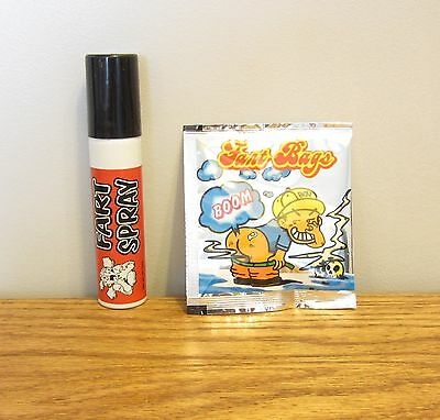 1 Can Of Fart Spray & 15 Fart Bomb Bags  Combo  Stinky Smelly  Gag Gift Prank