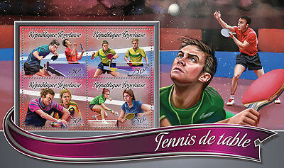 Togo 2016 MNH Table Tennis 4v M/S Sports Stamps