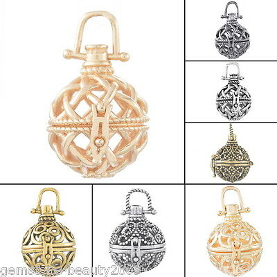 GB 1PC Mexican Harmony Pendant Hollowed Pregnant Bola Magic Box Ball Jingle Bell