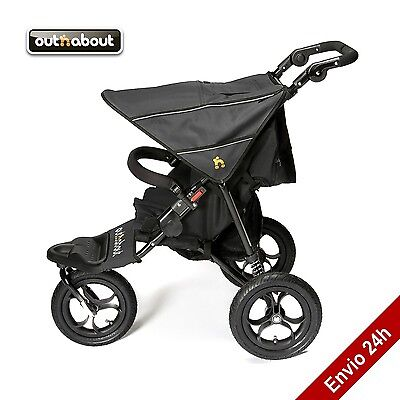 Outnabout Nipper Single V4 + protector de lluvia,360 Single Buggy silla de paseo