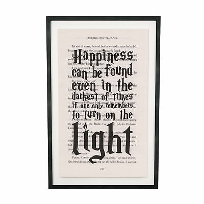 Art Print Harry Potter Dumbledor Quote Print on Book Page from Philosopher Stone