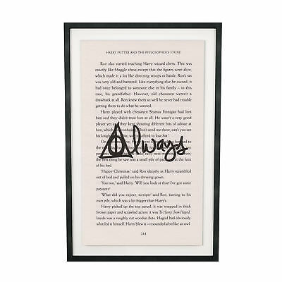 Art Print Harry Potter Always Print on Book Page from Philosopher's Stone