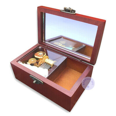 Wooden Vintage Sankyo Music Boxes With an Antiqued Lock (48 Tunes Option)