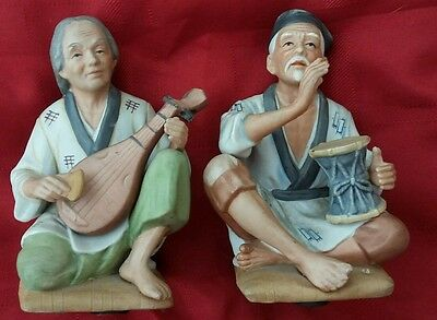 HOMCO Home Interior Asian Man Women #1436 Porcelain figurine Vintage Collectible