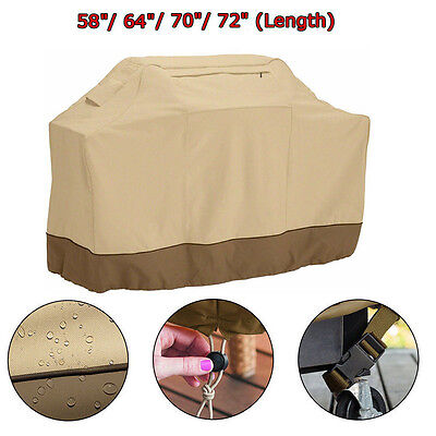 """BBQ Grill Cover 58"""" 64"""" 70"""" 72"""" Gas Barbecue Protector Outdoor Waterpr"""