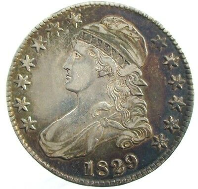 1829 USA Capped Bust Silver  Half Dollar