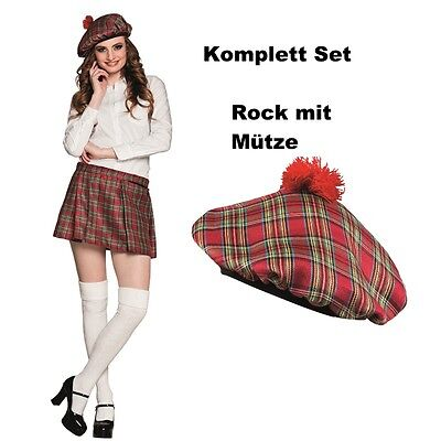 mini rock schotten damen kilt karo rot kariert faltenrock. Black Bedroom Furniture Sets. Home Design Ideas