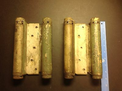 Vintage Hinges Double Spring Action Heavy Duty Swinging Door Hinges