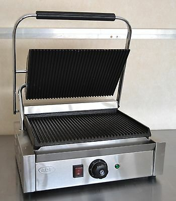 NEW Commercial Panini Machine, Contact Grill Toaster, Sandwich Maker rib/rib