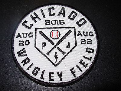 PEARL JAM Baseball Embroidered Iron-on Patch WRIGLEY FIELD CHICAGO 2016
